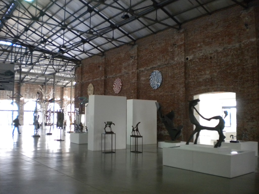 Art exhibition inside the La Redonda play centre