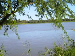 The Santa Fe river.