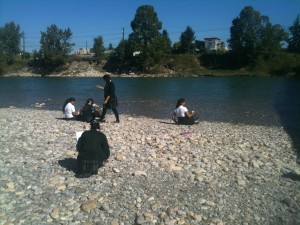 My students in Calgary - creative writing along the Bow River